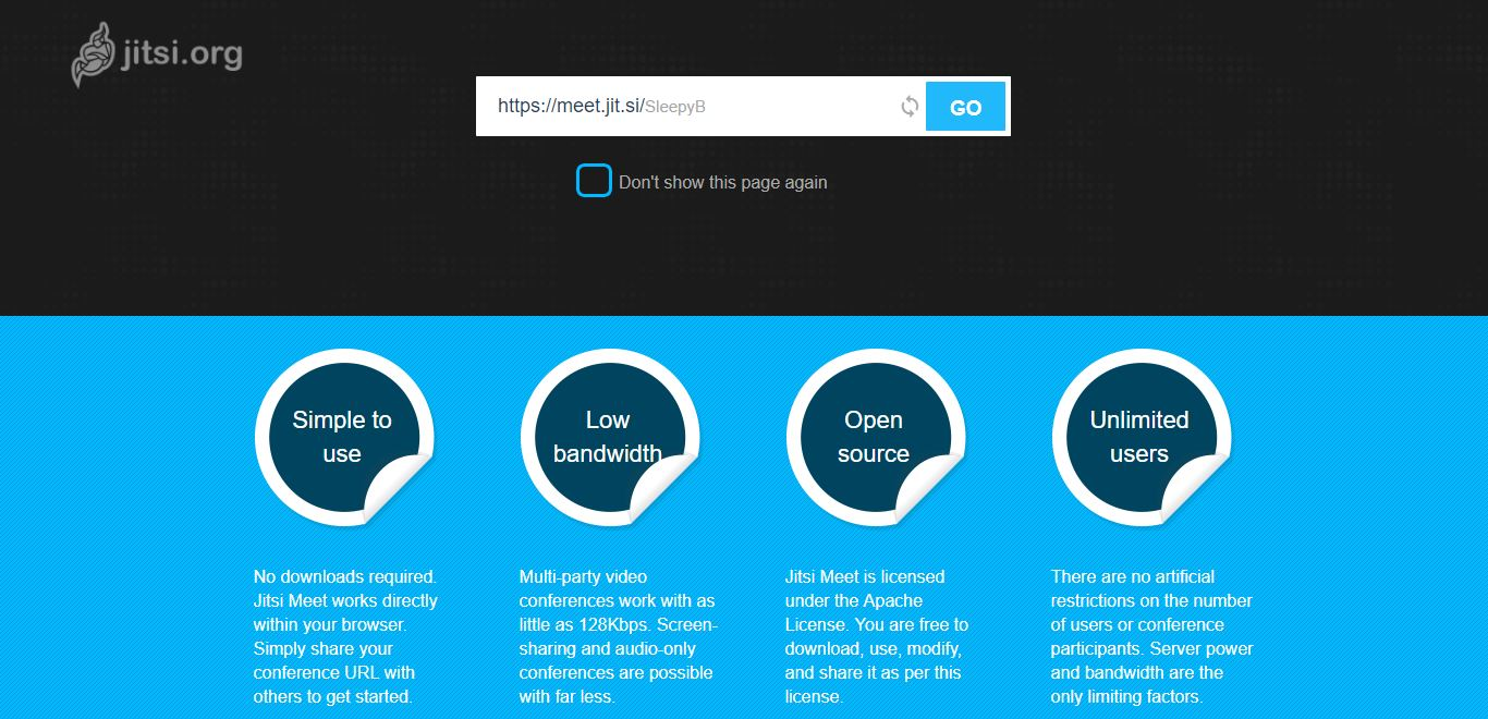 jitsi homepage