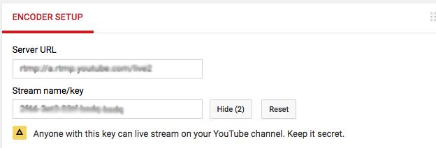 youtube key for jitsi