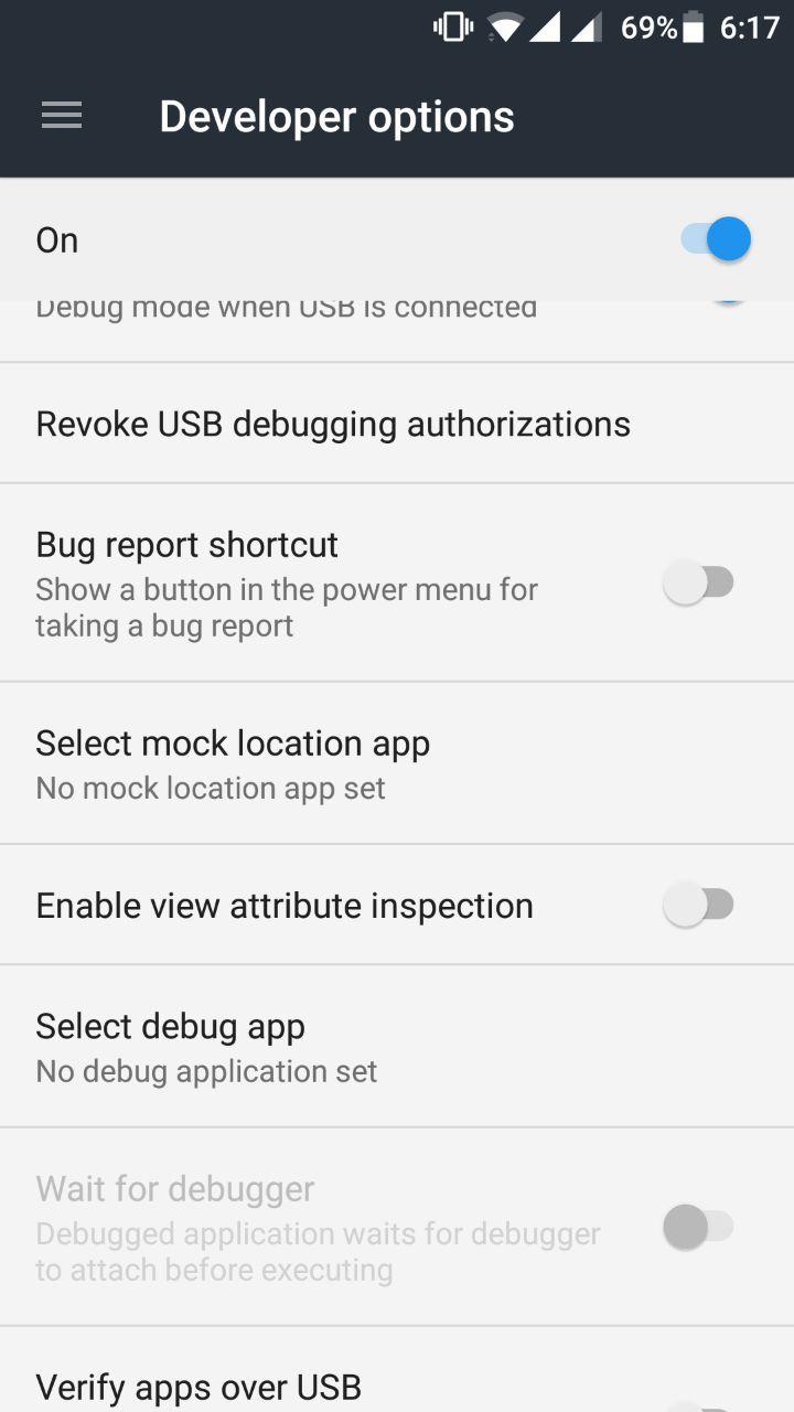 developer options mock locations